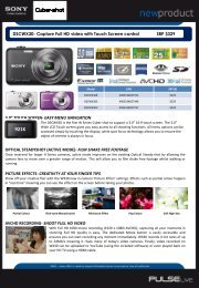 "3.0"" touch screen- easy menu navigation optical steadyshot (active ..."