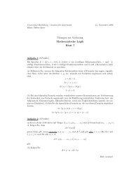 ¨Ubungen zur Vorlesung Mathematische Logik Blatt 7 - Fakultät für ...