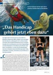 Das Handicap gehört jetzt eben dazu - Zimmermann Vital in Straubing