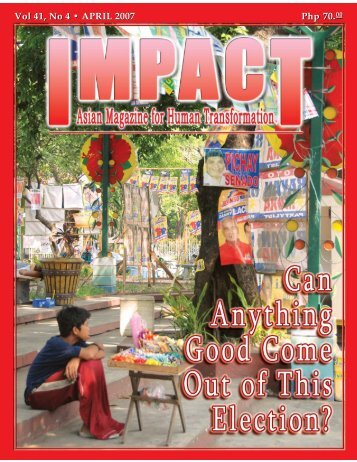 Vol 41, No 4 • APRIL 2007 Vol 41 - IMPACT Magazine Online!