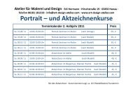 Portrait – und Aktzeichnenkurse - Art & Design Atelier
