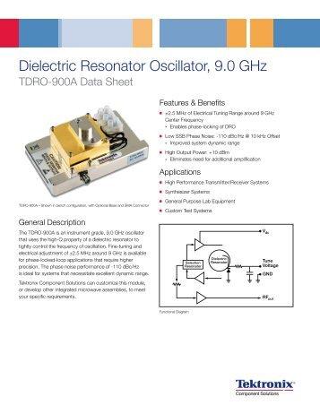 Dielectric Resonator Oscillator, 9.0 Ghz - Tektronix Component ...