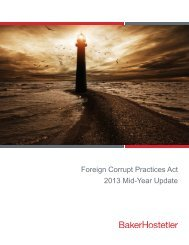 Foreign Corrupt Practices Act 2013 Mid-Year Update - Baker ...