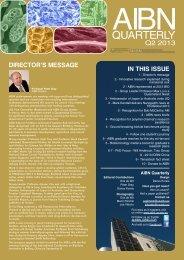 2013 Quarter 2 - Australian Institute for Bioengineering and ...