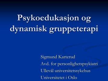 Mentaliseringsbasert gruppeterapi - Region Hovedstadens Psykiatri