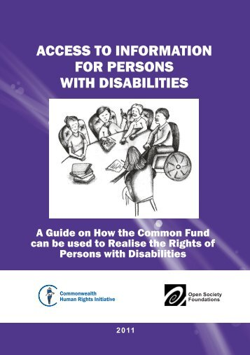 access to information for persons with disabilities. - Commonwealth ...