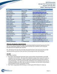 GA Tier II Meeting Summary - Smith | Associates