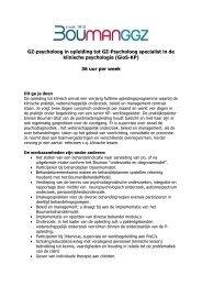 GZ-psycholoog in opleiding tot GZ-Psycholoog ... - RINO Groep