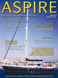 Holidays & lEisURE BoaTiNG iF yoU'RE HaViNG ... - Aspire Magazine