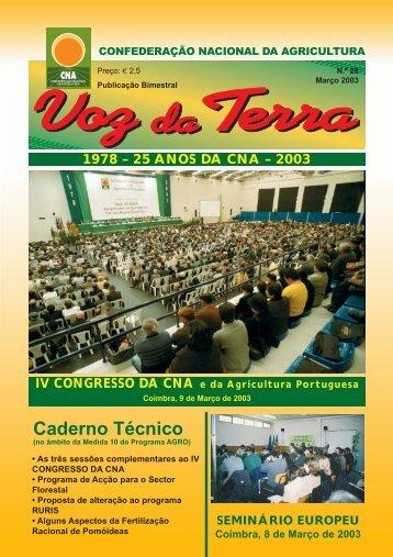 Voz da Terra, Março de 2003 - CNA