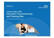 Education Commissioning and Training Plan - Workforce and ...