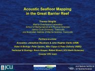Acoustic Seafloor Mapping in the Great Barrier Reef - OzCoasts