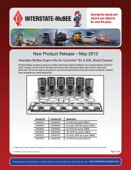 New Product Release – May 2013 - Interstate McBee