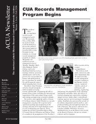 Fall 2006 - University Archives - The Catholic University of America