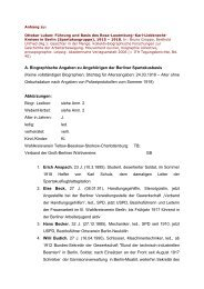 A. Biographische Angaben zu Angehörigen der Berliner ...