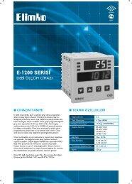 E-1200 SER‹S‹ - Elimko
