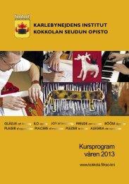 Kursprogram våren 2013 - Kokkola