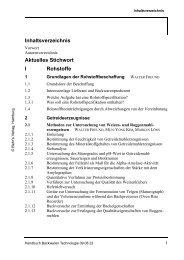 Inhaltsverzeichnis Aktuelles Stichwort I Rohstoffe