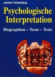 Psychologische Interpretation. - Jochen Fahrenberg