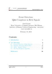 Event Detection: Qrs-Complexes in Ecg Signals - microLab