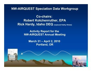 Kotchenruther - Spec Data WG Report - Washington State University