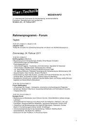 Rahmenprogramm - Forum - Olma Messen St.Gallen