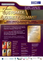 customer loyalty summit - Blue Business Media