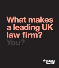 What makes a leading UK law firm? - Burges Salmon