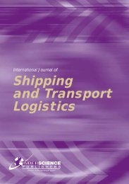 Shipping and Transport Logistics - Inderscience Publishers