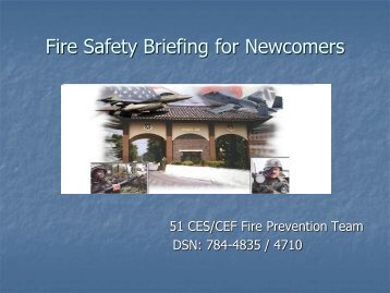 Fire Safety Briefing for Newcomers
