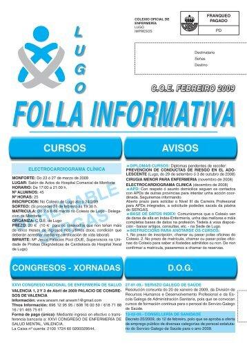 boletin febreiro 09.indd - Colegio Oficial de Enfermeria de Lugo