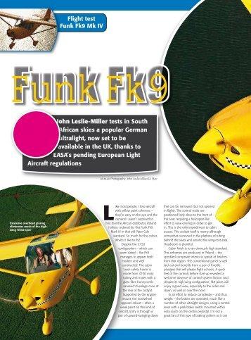 John Leslie-Miller tests in South African skies a ... - FK-Lightplanes