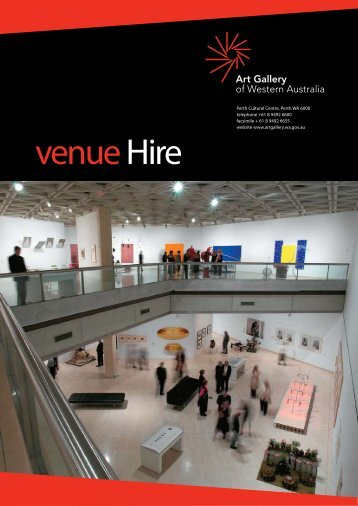 Venue Hire Guide - Art Gallery of Western Australia