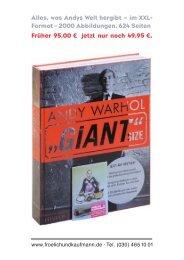 Andy Warhol »giant Size« - Froelich und Kaufmann
