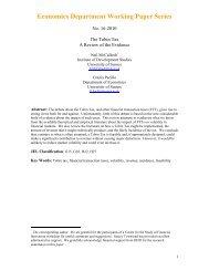 Economics Department Working Paper Series - Steuer gegen Armut