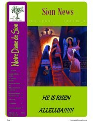 HE IS RISEN ALLELUIA!!!!!! - Sisters of Our Lady of Sion