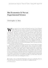 But Economics Is Not an Experimental Science - IPSC
