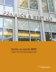 Section 102 and the MPEP - Fenwick & West LLP