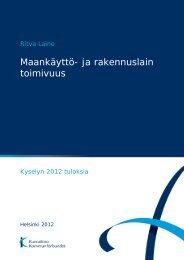 Maankäyttö- ja rakennuslain toimivuus - Kunnat.net