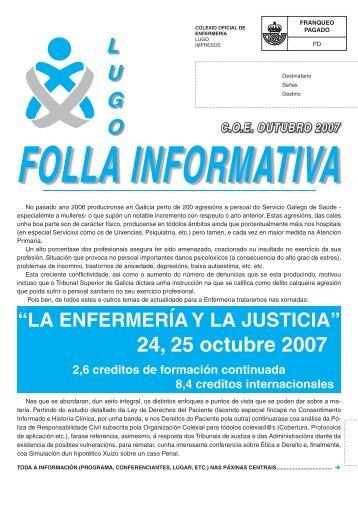 boletin outubro 07.indd - Colegio Oficial de Enfermeria de Lugo