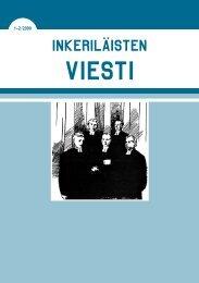 1-2/2009 - Suomen Inkeri-liitto ry