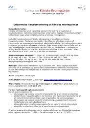 Uddannelse i implementering af kliniske retningslinjer - Center for ...