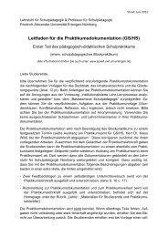 Leitfaden für die Praktikumsdokumentation (GS/HS) - Lehrstuhl für ...