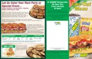 At SUBWAY Restaurants, We Have Your Fresh ... - Ransom County