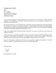 Pontianak, June 12, 2013 Dear, Sir or Madam Human Resource ...
