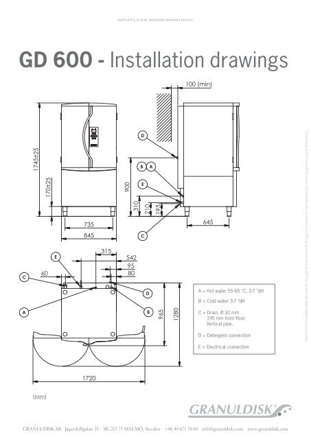 Gd 600 Installation Drawings Granuldisk