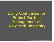 Using Confluence for Project Portfolio Management at New York ...