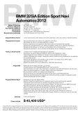 325iA Edition Sport Navi - BMW Garantía . Bolsas de aire frontales ... - Page 2