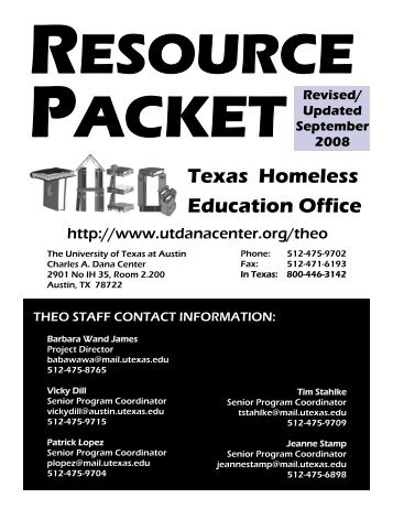 Texas Homeless Education Office - National Association for the ...