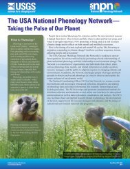 USA-NPN Fact Sheet - USA National Phenology Network